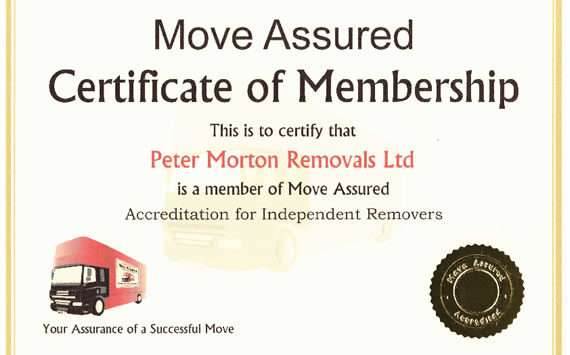 Move Assured Certificate